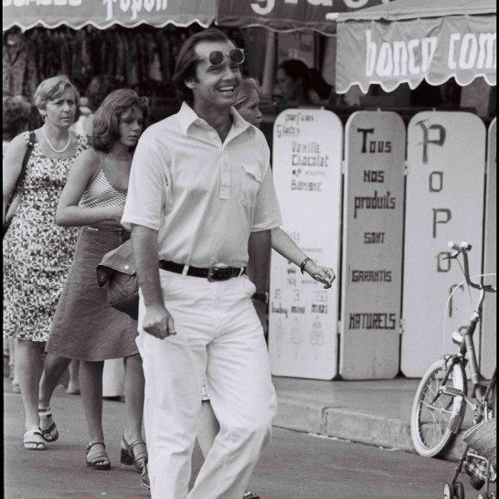 ARCHIVES - JACK NICHOLSON SUR LE PORT DE SAINT TROPEZ EN 1979