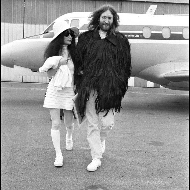 ARCHIVES - YOKO ONO ET JOHN LENNON A PARIS - 1969